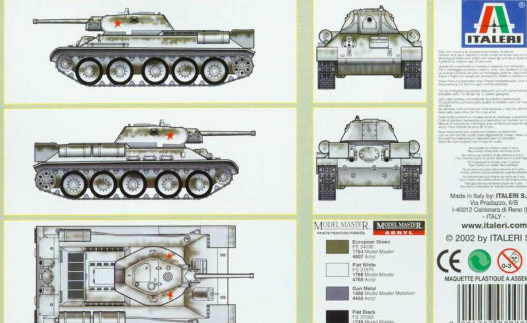 Esci T-34 Assembly Tips