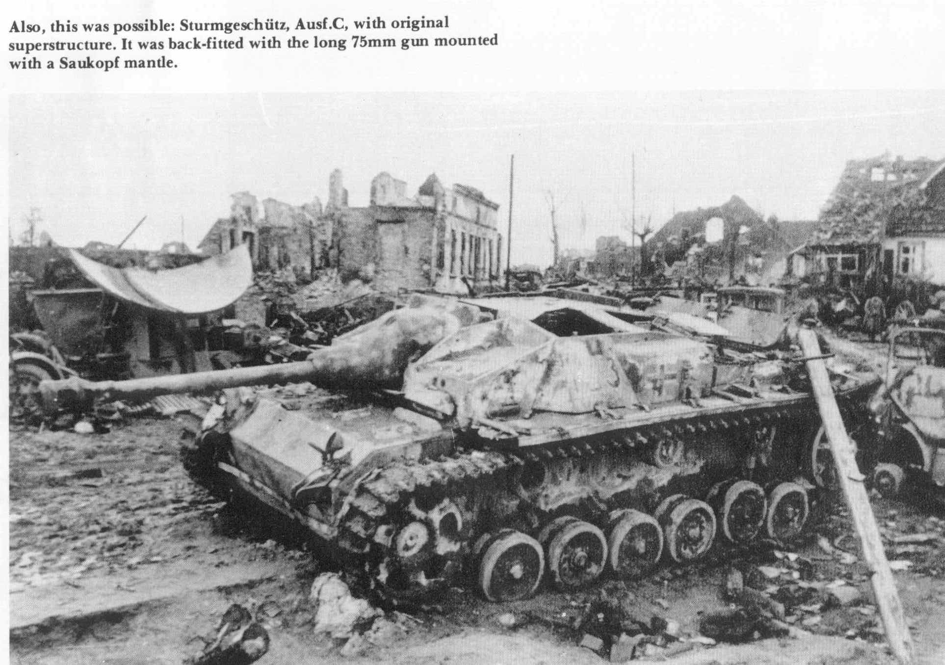 Conversion The Stug Iii Ausf C Quot Lang Quot