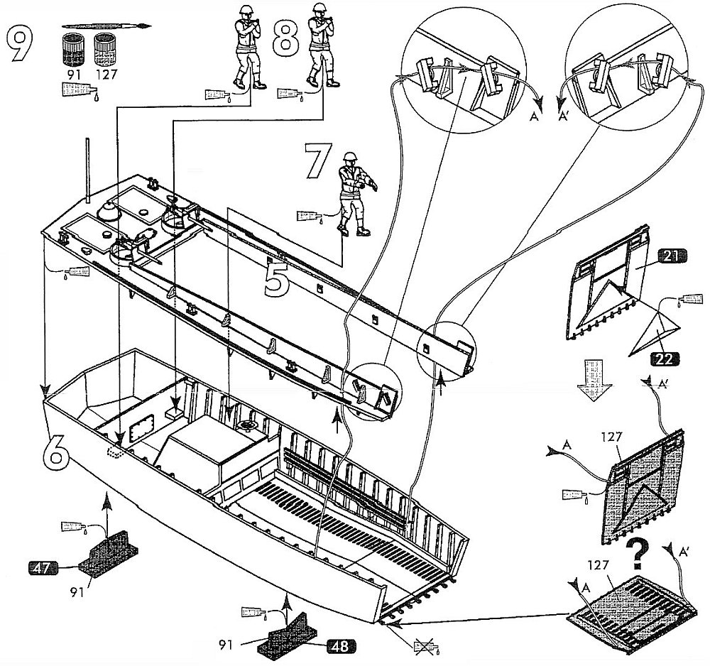 Heller Lcvp Landing Craft Vehicle And Personnel Kit No 79995