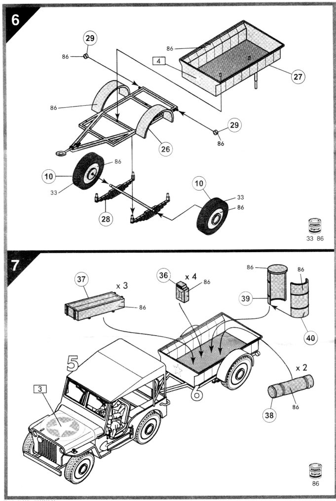 Airfix Amp Fb Minis Willys Mb Jeep And Trailer Kit No 01322