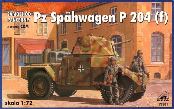 RPM 1//72 AMD Panhard 178 avec tourelle APX # 72300